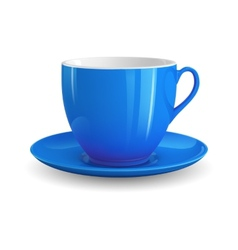 Blue cup vector