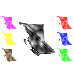 british columbia canada map vector image