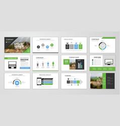 brochure layout design template set vector image