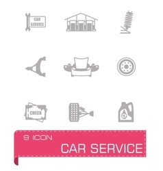 Car sevice icon set vector image