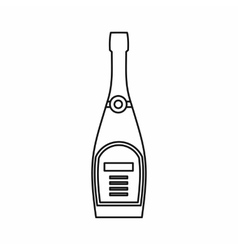 Champagne bottle icon outline style vector