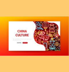 china culture neon landing page vector image