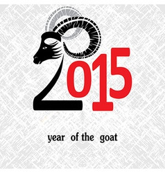 Chinese symbol goat 2015 year vector image