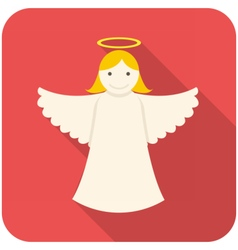 Christmas angel icon vector