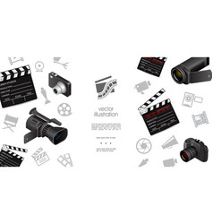 cinematography elements template vector image