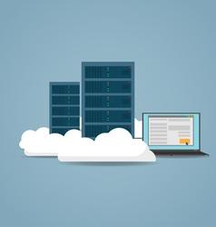 Cloud datacenter setting vector