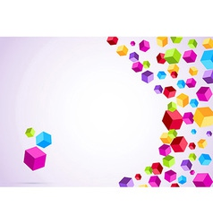 Colorful rainbow cubes form a background vector image