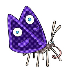 comic cartoon funny butterfly vector image