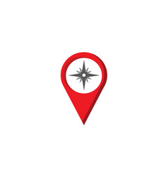 compass with indicators dart board in a pin vector image