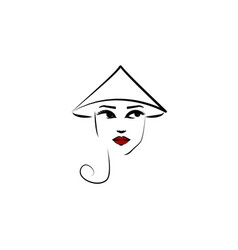 coolie hat girl icon element beautiful girl in vector image