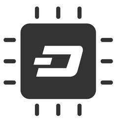 dash processor chip flat icon vector image