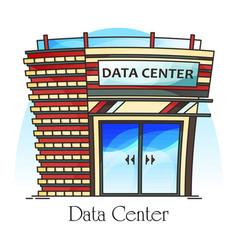 Data center or centre exterior view datacenter vector