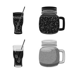 Design of drink and bar icon set of drink vector
