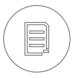 Document sheet substract black icon in circle vector