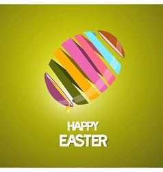 Easter Background with 3d Abstract Egg vector image