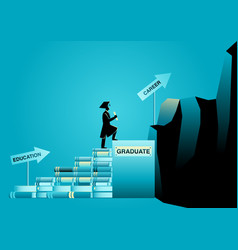 Education and career vector