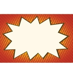 Explosion comics bubble on orange background vector