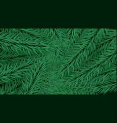 festive back christmas tree green branches vector image