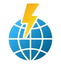 Global Shock Gradient Icon vector image