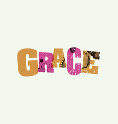 grace concept stamped word art vector image