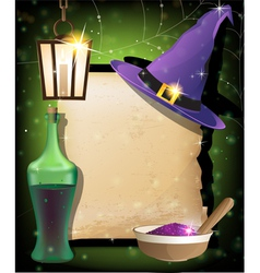 Halloween magic accessories vector image