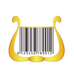 harp with bar code vector image