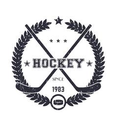 Hockey vintage emblem logo vector