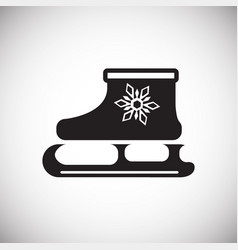 ice skate on white background vector image