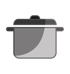 Kitchen pot flat icon vector