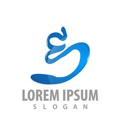 logo concept design signature initial letter e vector image