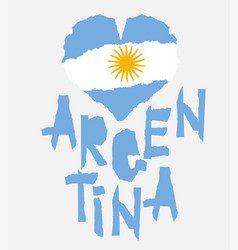 love argentina america vintage national flag in vector image