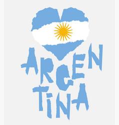 love argentina america vintage national flag in vector image