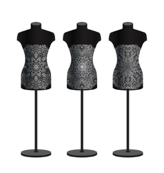 Mannequins for clothes on a white background set vector