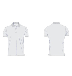 Mens polo tshirt template vector