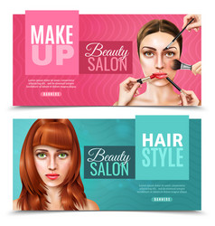 Model face salon banners vector