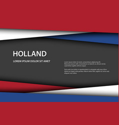 Modern background with dutch colors vector
