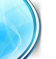 Modern blue wave swoosh line border background vector image