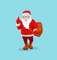 Modern santa claus cool funny style character vector