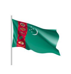 National flag of turkmenistan republic vector