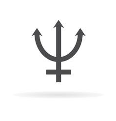 neptune symbol icon1 vector image