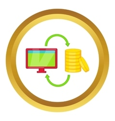Online earnings icon vector