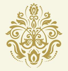 Oriental abstract golden pattern vector