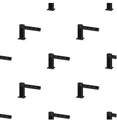 Parking barrier icon in black style isolated on vector