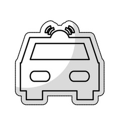 patrol vehicle silhouette isolated icon vector image