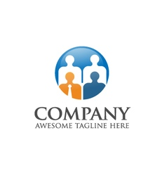 People business logo vector