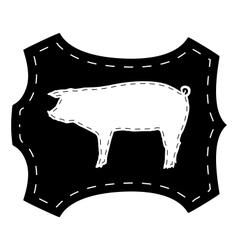 Pigskin silhouette vector