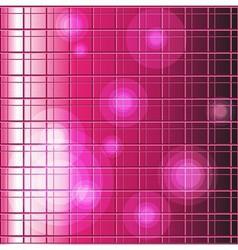 Pink grid background vector