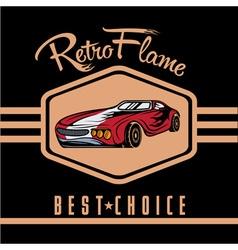 retro sport car old vintage poster vector image