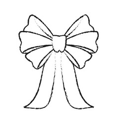 Ribbon bow icon image vector