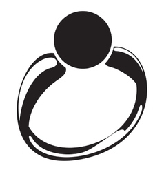 Ring silhouette vector
